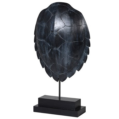 Black Turtle Shell Sculpture