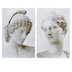 Set of 2 Classical Bust Pictures