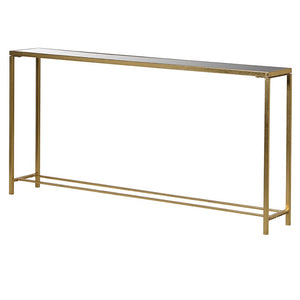Mirror Top Gold Console Table