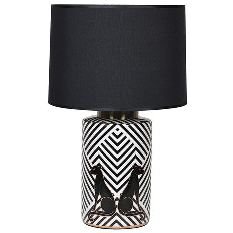 Leopard Lamp Black Shade