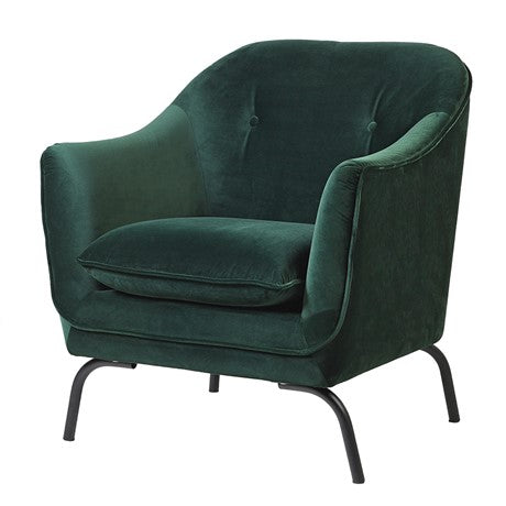 Emerald Green Velvet Armchair