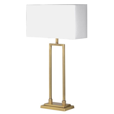 Gold Table Lamp with White Shade