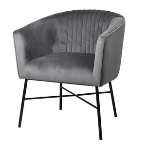 Viola Aluminium Occasional Chair - Black Piping