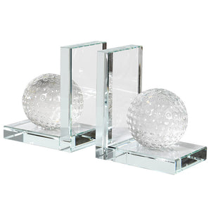 Textured Glass Bookends