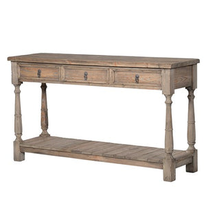 Colonial 3 Drawer Console Table