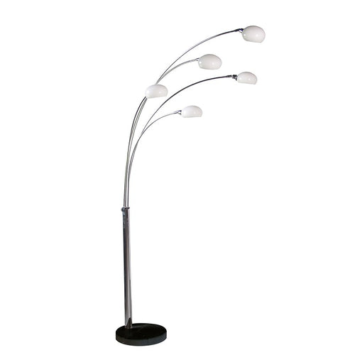 5 Arm chrome Floor Lamp