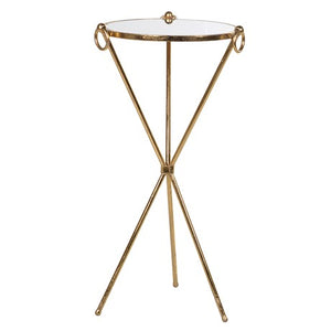 Tall Gold Side Table