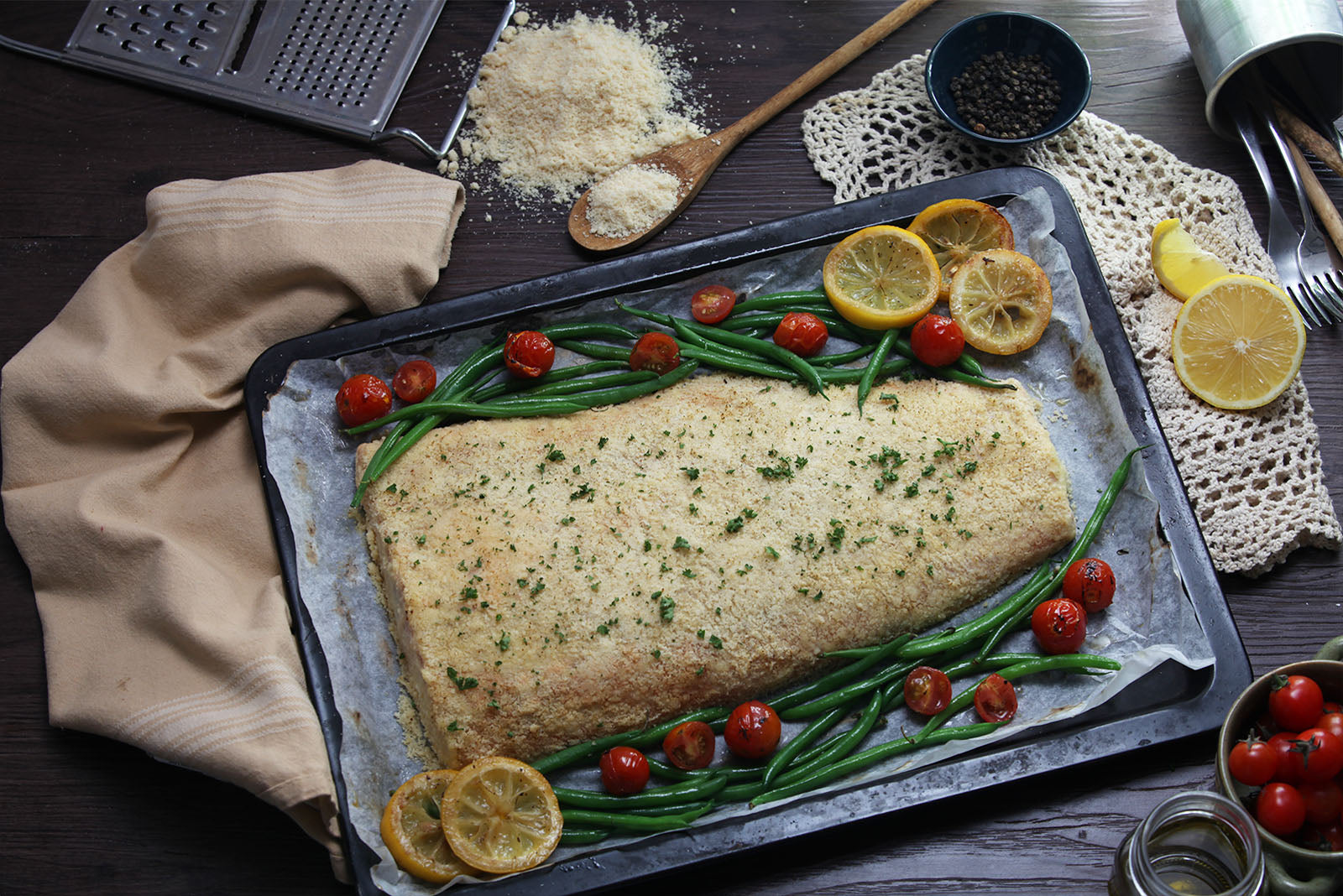 Baked Parmesan Crusted Salmon for sale | Benedicto Kitchen