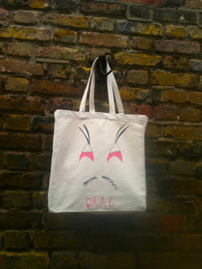 Drag Cotton Canvas Tote