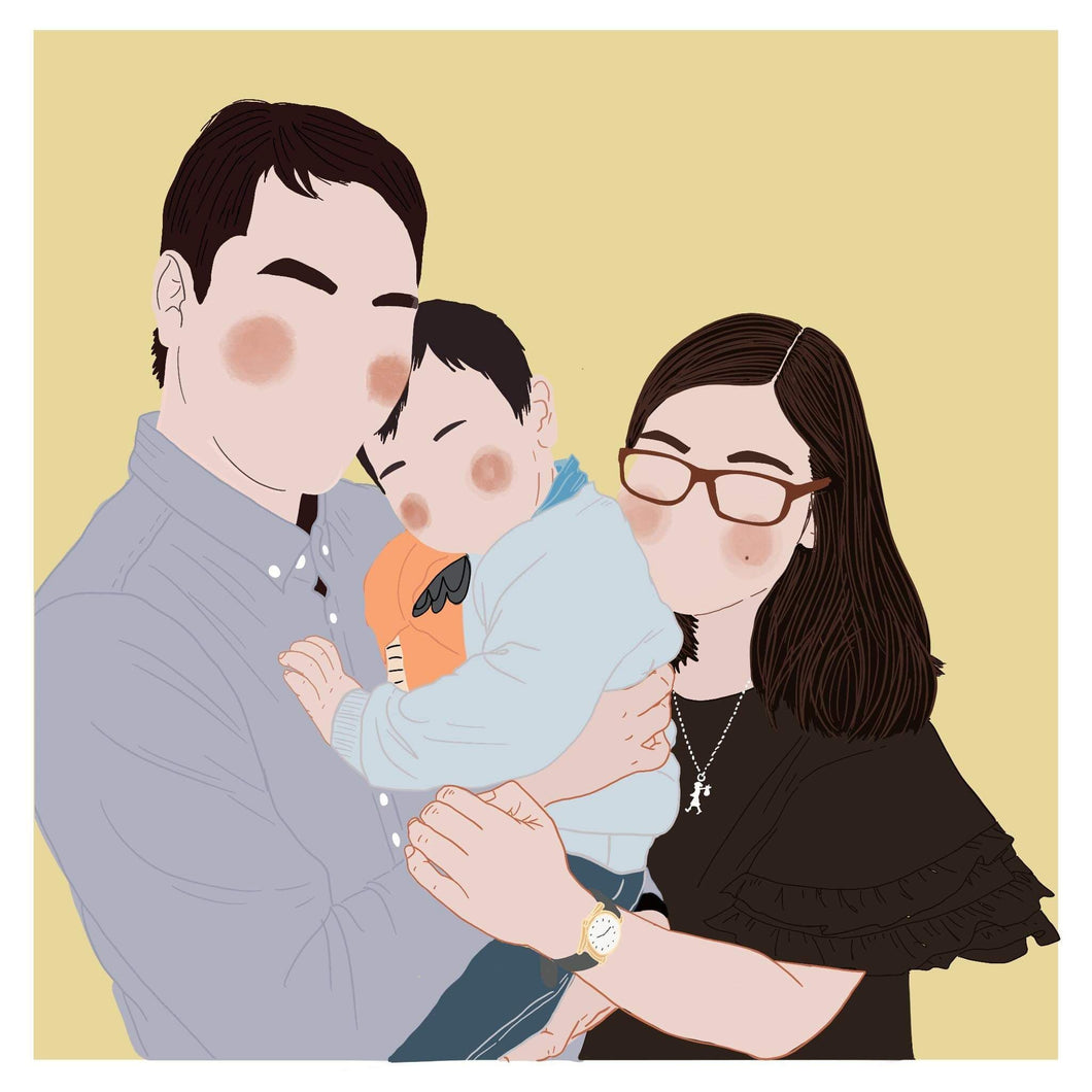 DIGITAL Custom Commissioned Portraits