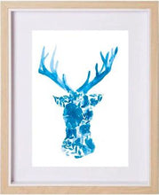 Load image into Gallery viewer, Blue Floral Deer