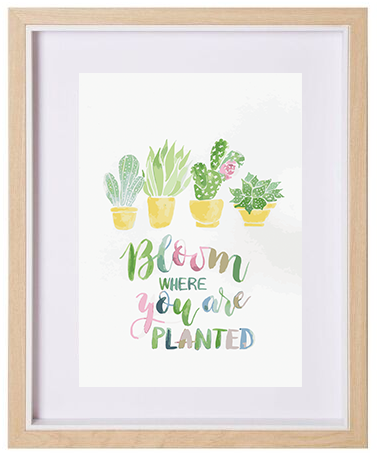 Bloom Where You Are Planted A4 Print