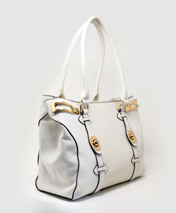 88776  Spacious Handbag with Double Compartment