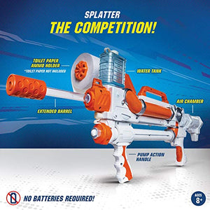 Toilet Paper Blasters Sheet Storm, Toy Blaster Shoots Rapid Fire TP Spitballsup to 50'