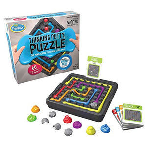 ThinkFun and Crazy Aaron's Thinking Putty Puzzle and STEM Toy for Boys and Girls Ages 8 and Up - The Famous Thinking Putty in Logic Game Form