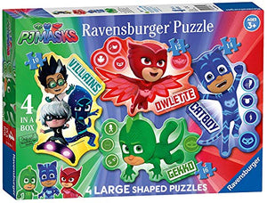 PJ Masks 4 per Box Large Shaped Puzzles Featuring Gekko Owlette Catboy Ages 3+-Winner-Top License Toy of 2019