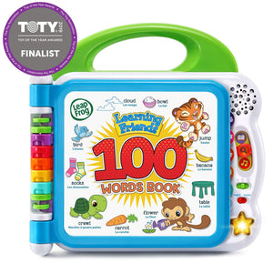 Learning Friends 100 Words Book-Winner-Top Infant/Toddler Toy of 2019