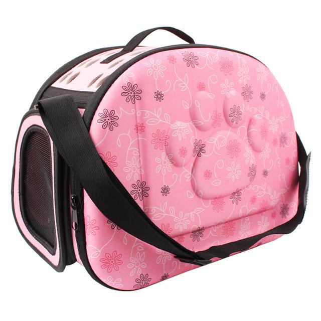 Floral Soft Pet Foldable Carrier With Shoulder Straps