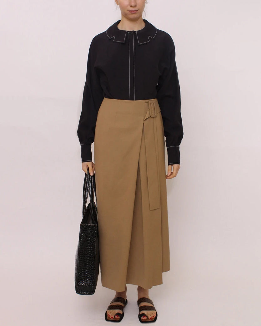 Ellis Skirt Cotton Camel