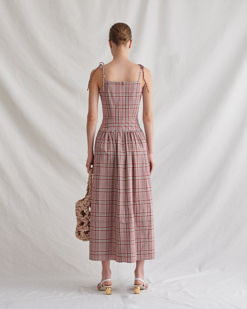 Issy Dress Cotton Red Check