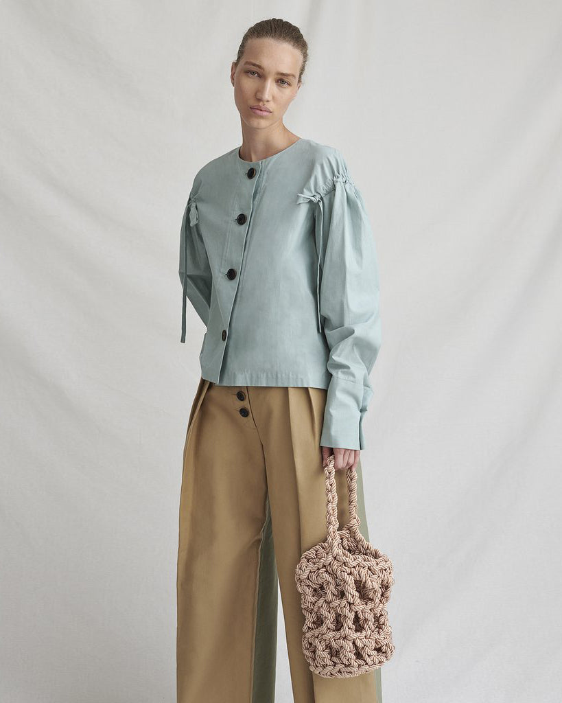 Sienna Blouse Chambray Mint