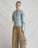Sienna Blouse Mint Chambray