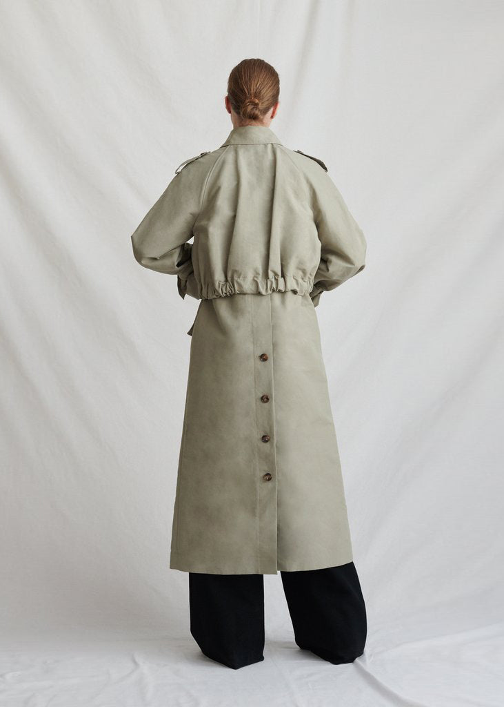 Wren Trench Coat Cotton Khaki