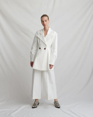 Maja Ivory Cotton Jacket