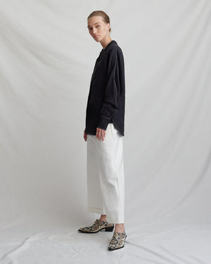 Carly Shirt Linen Black