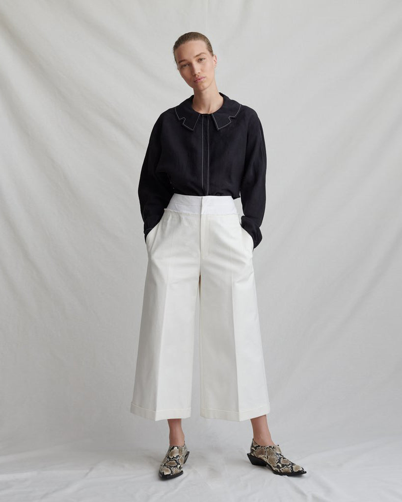 Tate Trousers Cotton Ivory - SPECIAL PRICE