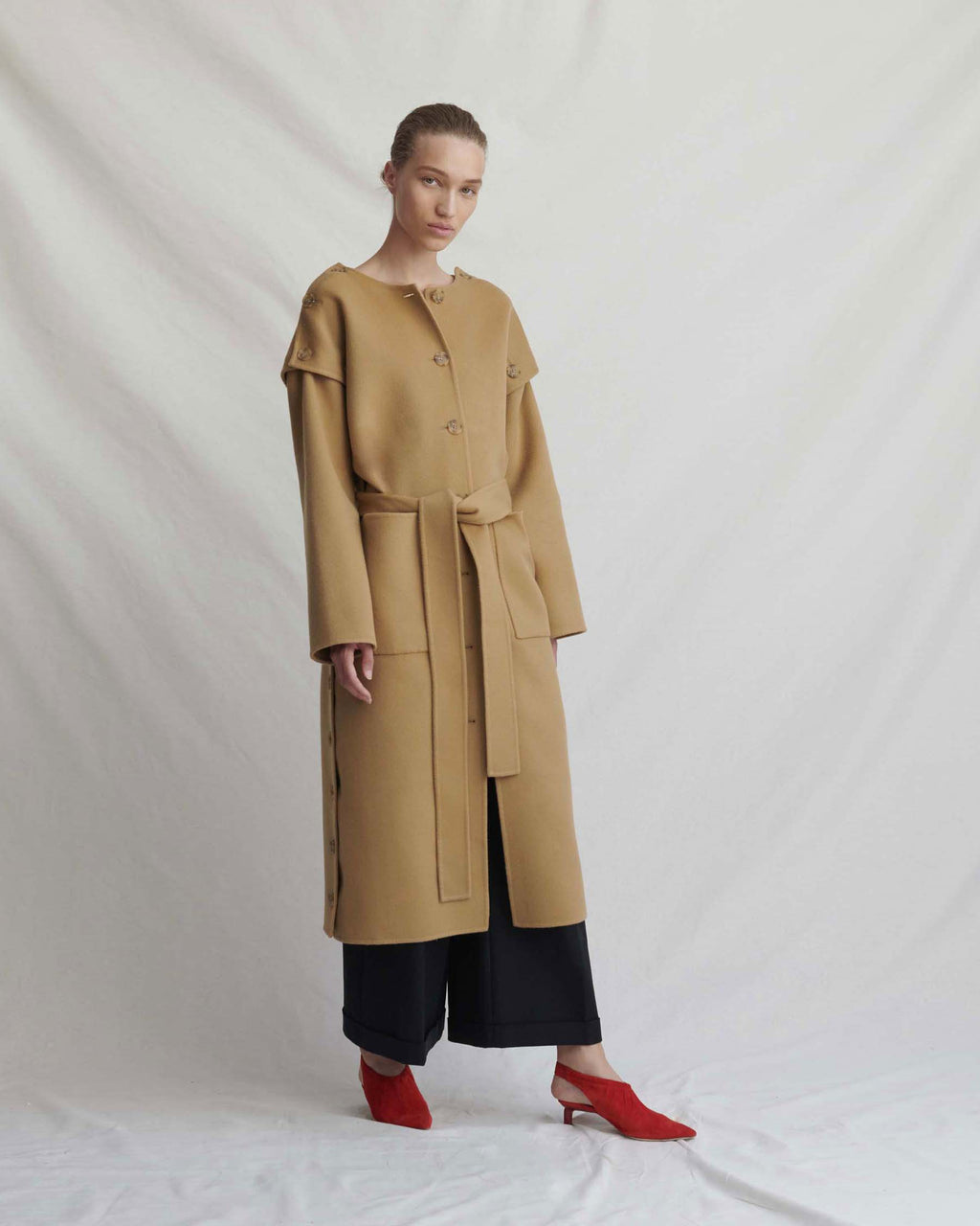Simone Camel Coat - Exclusive