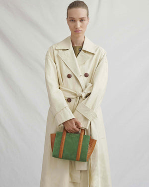 Oli Trench Faux Leather Ivory