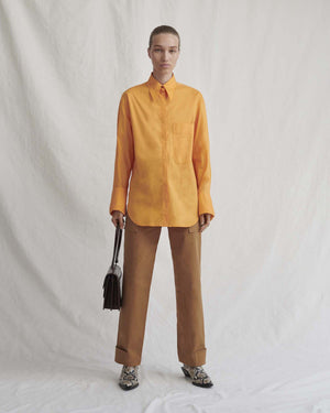 Mira Shirt Cotton Poplin Orange