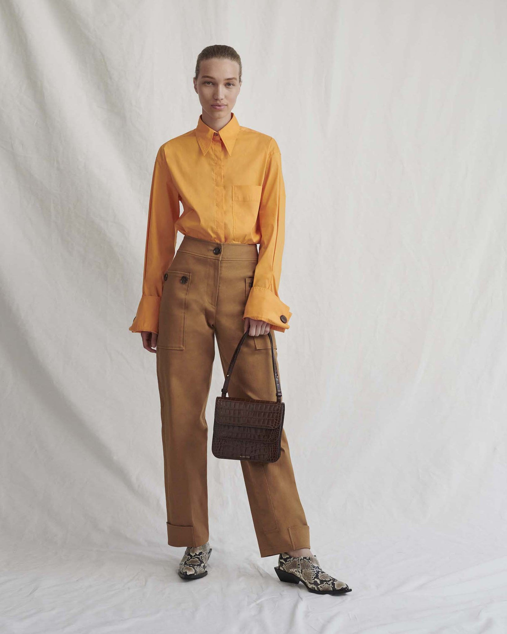 Hazel Trousers Cotton Twill Camel - SPECIAL PRICE