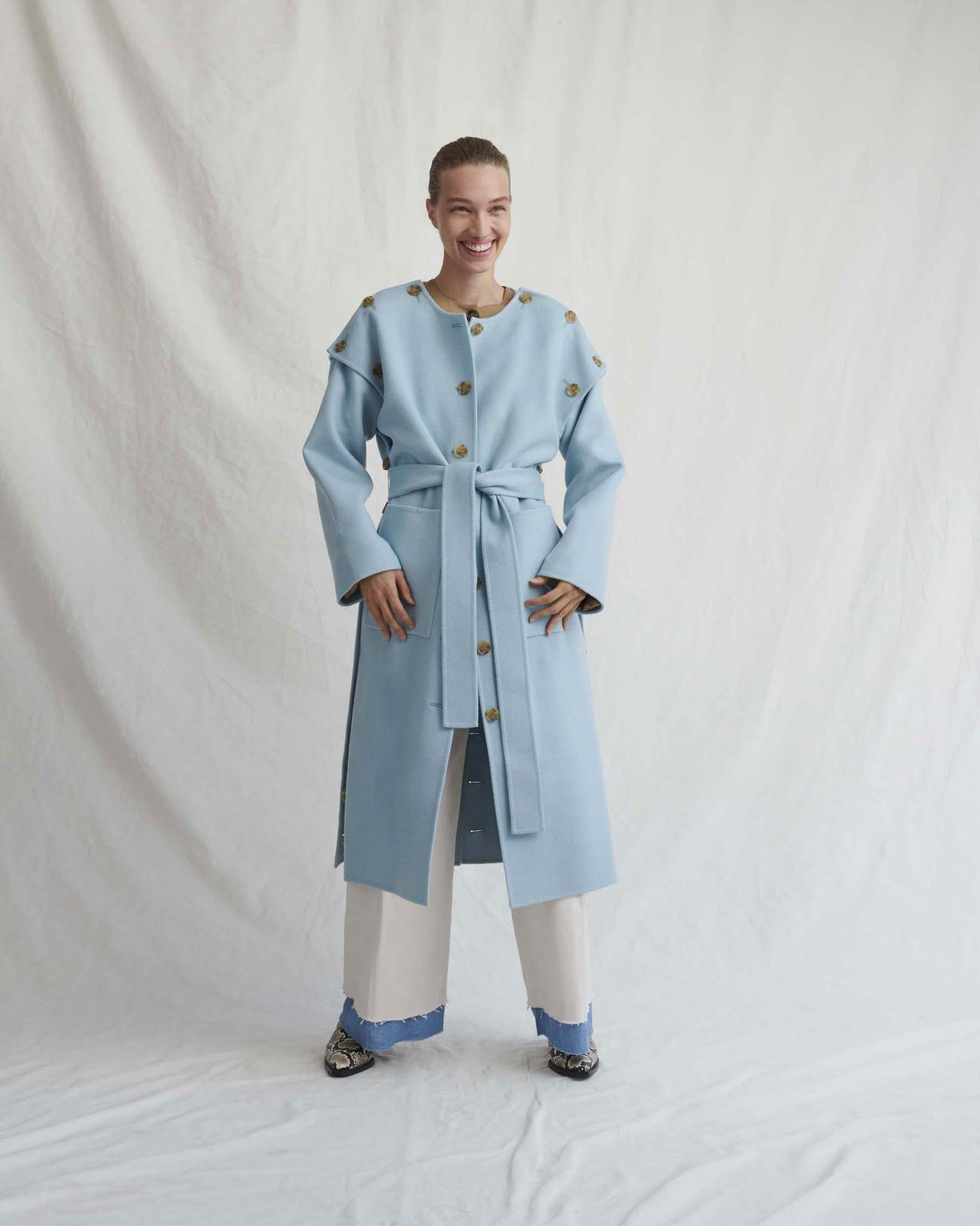 Simone Light Blue Coat - Exclusive