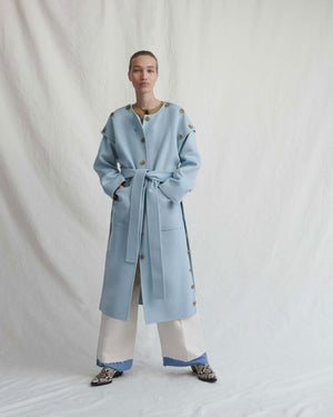 Simone Coat Wool Light Blue - Exclusive