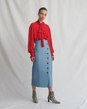 Scout Skirt Faux Leather Blue
