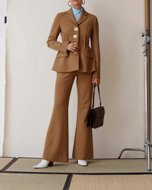 Ashley Trousers Wool Light Chestnut - SPECIAL PRICE
