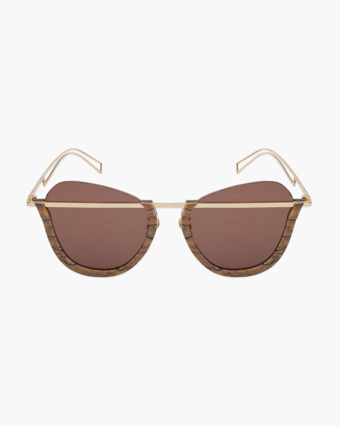 Woodgrain Frame with Brown Lens