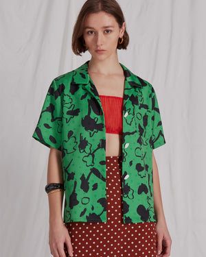 Mila Shirt Print Green