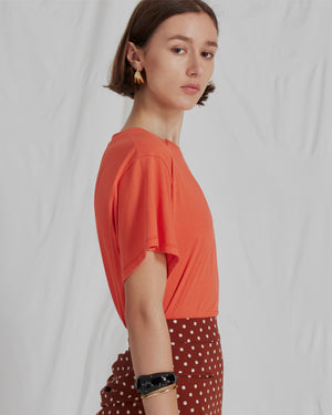 Sabrina T-Shirt Cotton Jersey Coral - SPECIAL PRICE