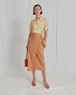 Robin Skirt Linen Sienna - ADDITIONAL 10% OFF SALE PRICE