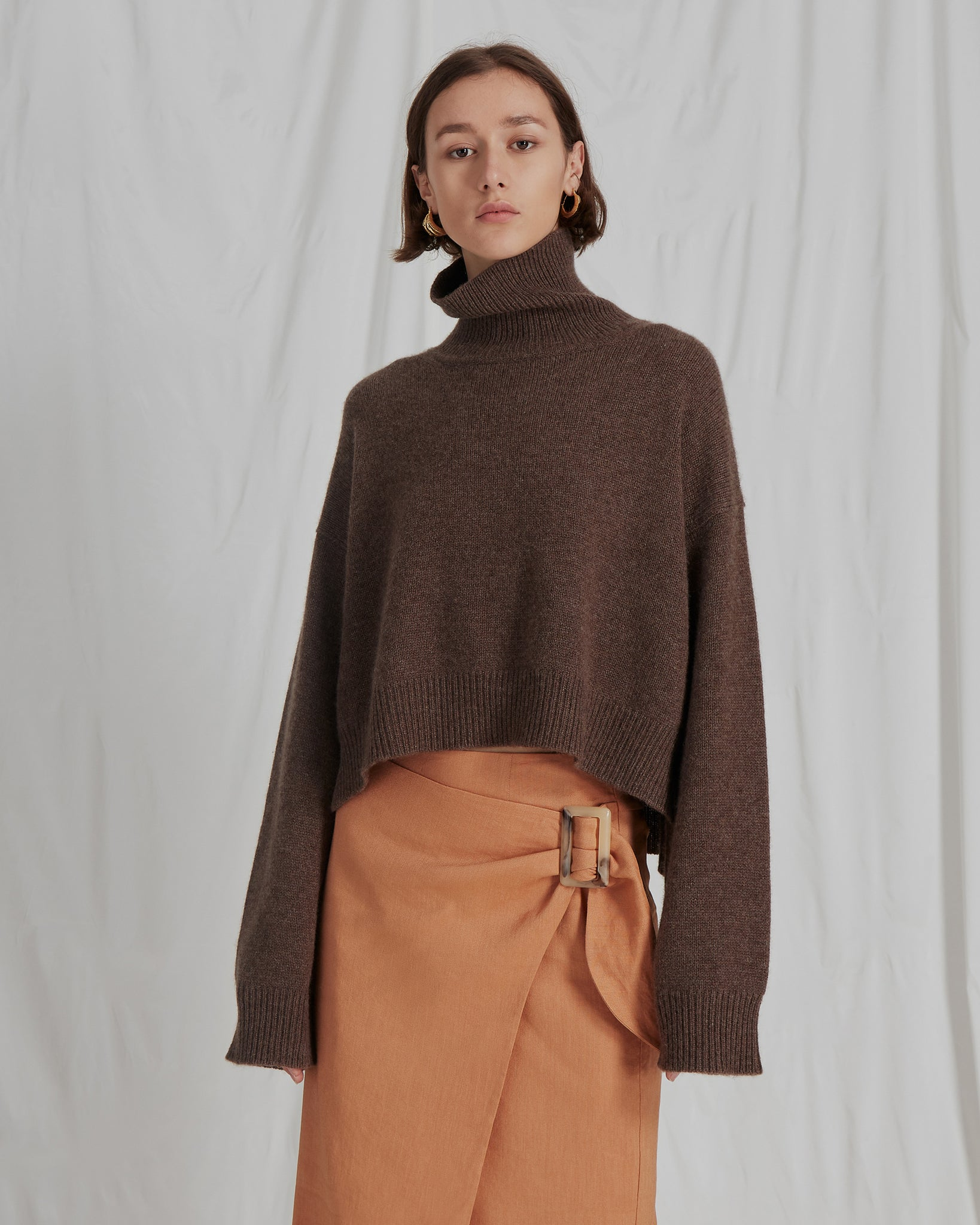 Lyn Knit Sweater Cashmere Tobacco