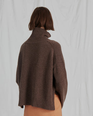 Lyn Sweater Knit Cashmere Tobacco