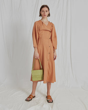 Michaela Dress Linen Sienna