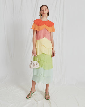 Marta Skirt Crepe Ombre Mix