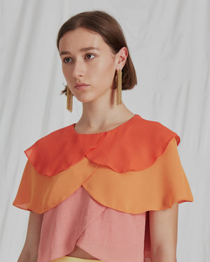 Jude Blouse Crepe Ombre Mix