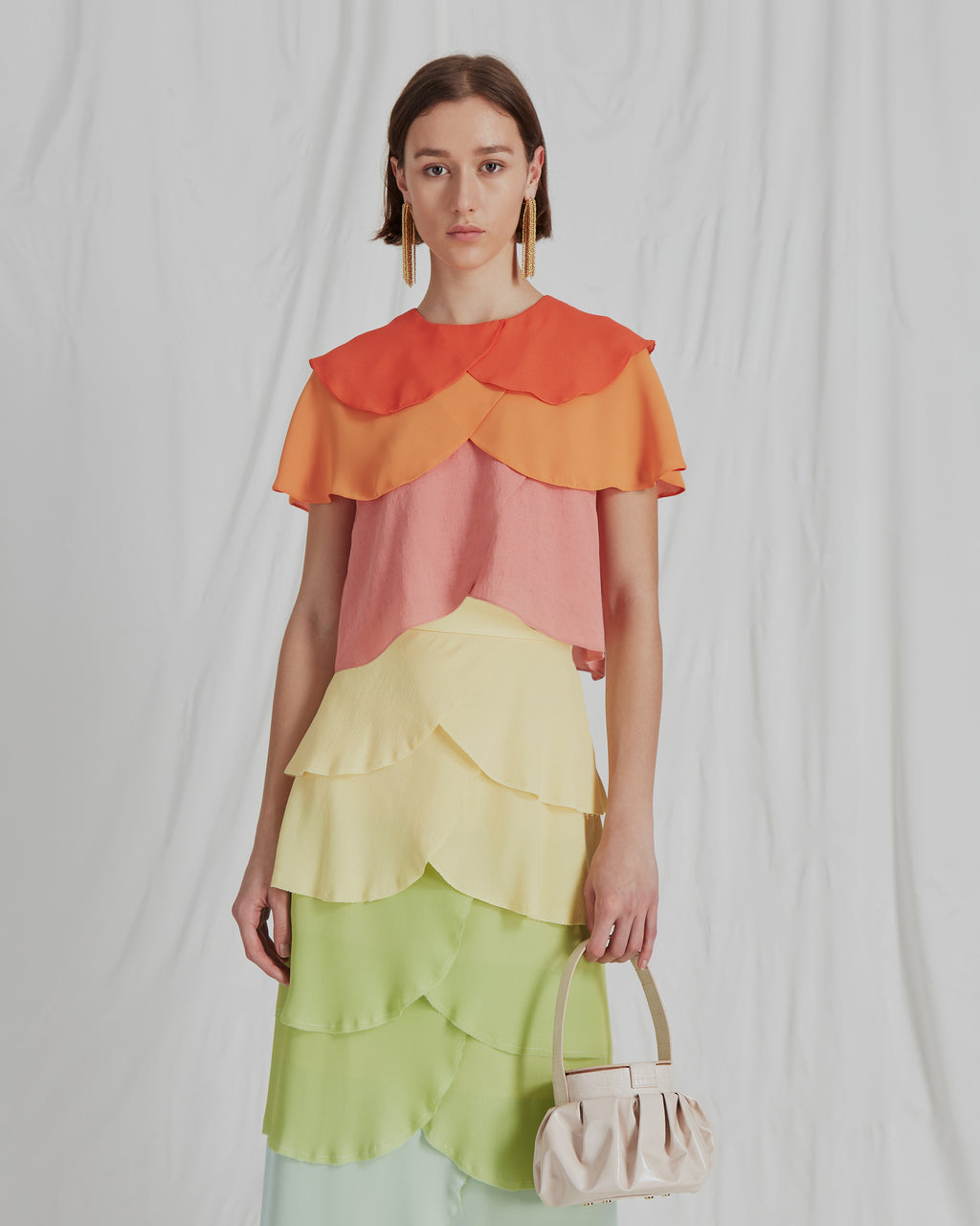 Jude Blouse Crepe Ombre Mix - SPECIAL PRICE