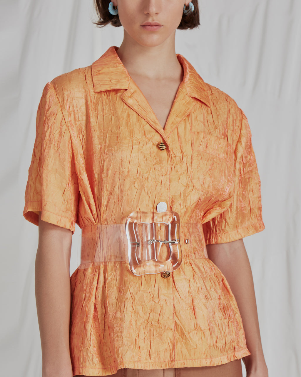 Mila Shirt Crinkle Orange
