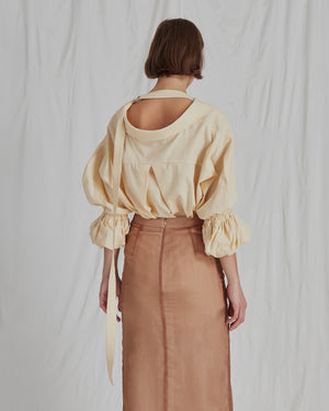 Amber Shirt Cotton Linen Yellow
